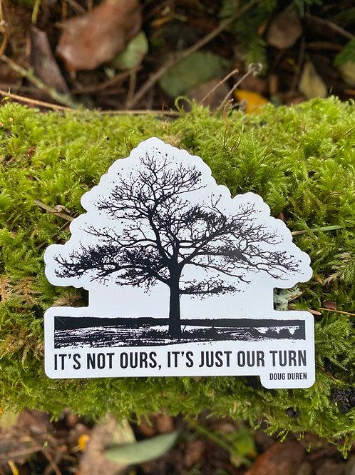 Die Cut Lone Oak Sticker