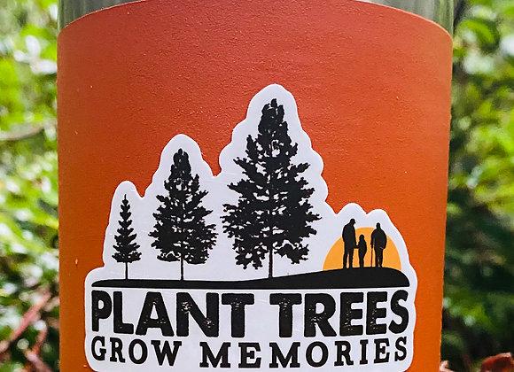 Die Cut Plant Trees Grow Memories Sticker