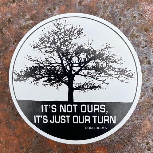 Round Lone Oak Magnet