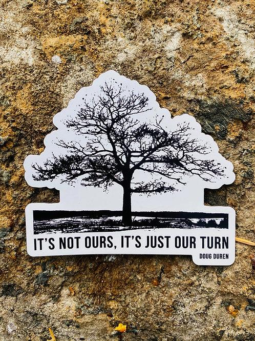 Die-Cut Lone Oak Magnet