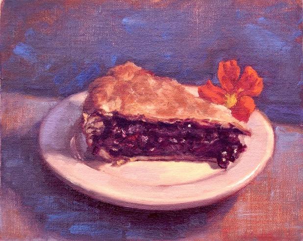 Blueberry Pie and Nasturtium