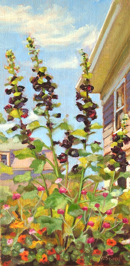 Hollyhocks III