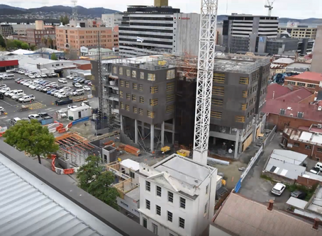 UTAS student accommodation tops out in Hobart