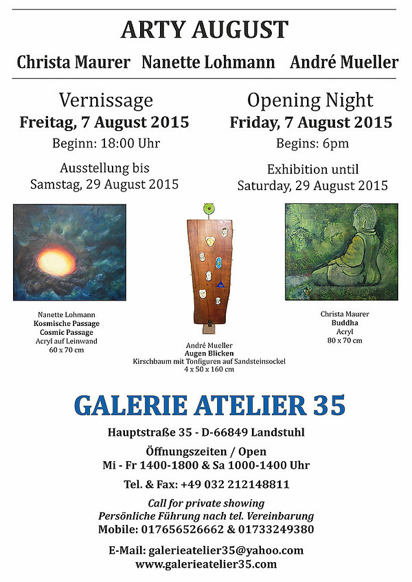 Arty August 2015 - Exhibition