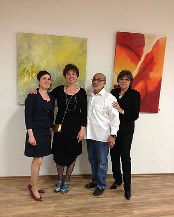April 2014 - Jerry Ceglia Artist, with Beate Winkler, Marion Kaufmann and Renate Hoyer (local artists)