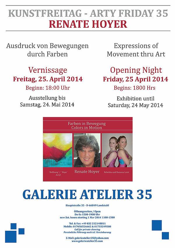 Vernissage Renate Hoyer - 25. April 2014 - Arty Friday - Kunstfreitag