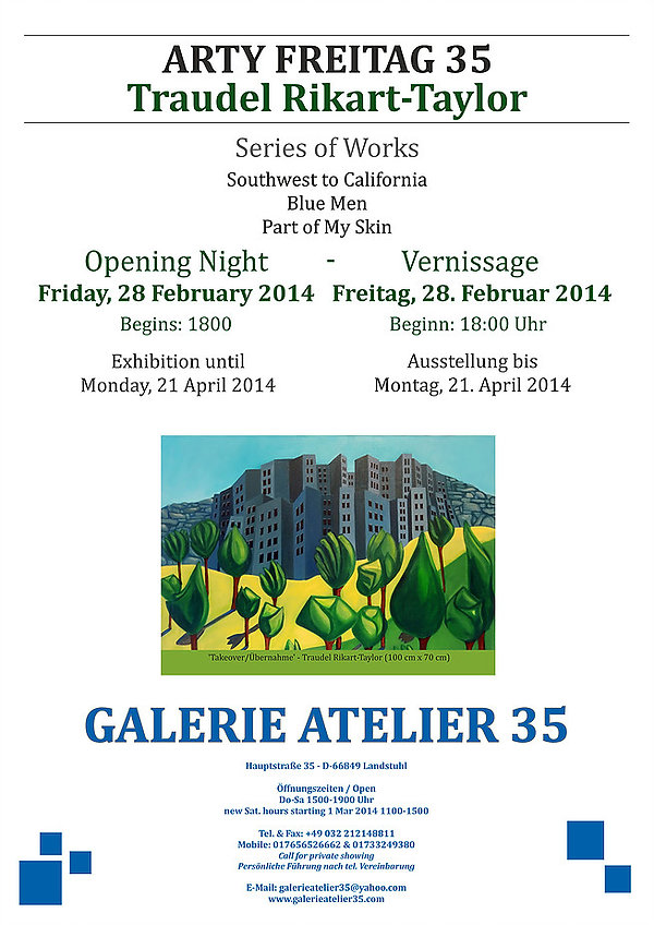 Traudel Rikart-Taylor , Artist - Exhibition February 2014