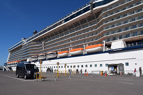 Picking Cruise ship Passangers up from Tauranga Port