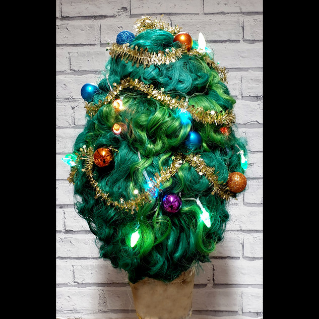 Christmas Tree Acrylic Wig