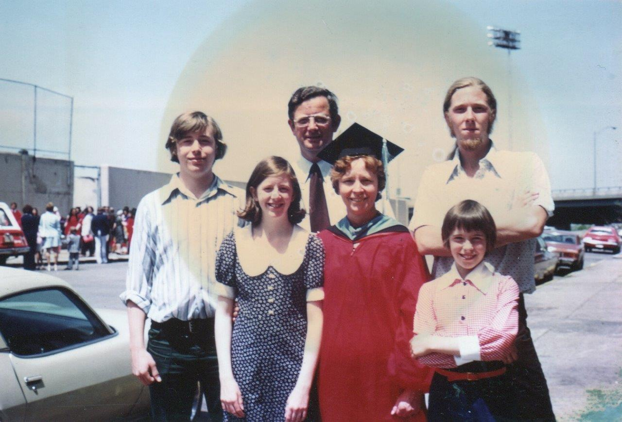 Early life at Peg's (mothers) graduation