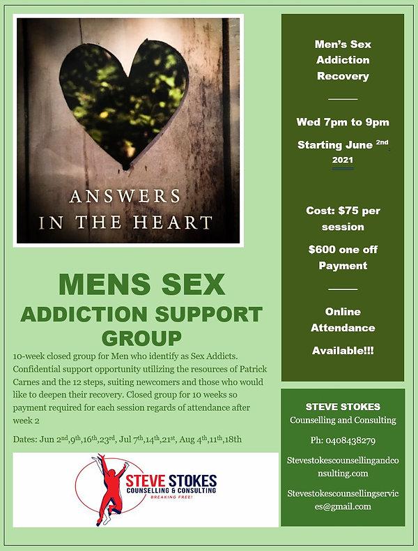 Mens Sex Addiction Wednesday Night June