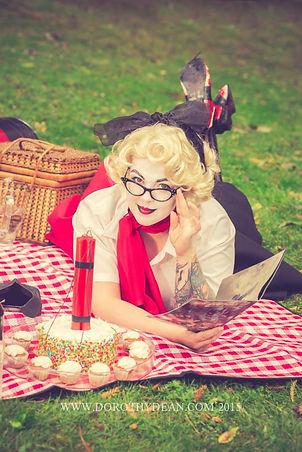 Erin Severe as 50s Harley Quinn