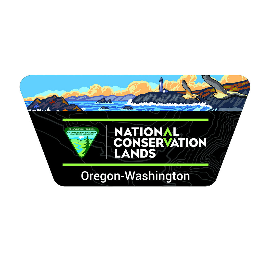 national conservation lands die cut cut sticker