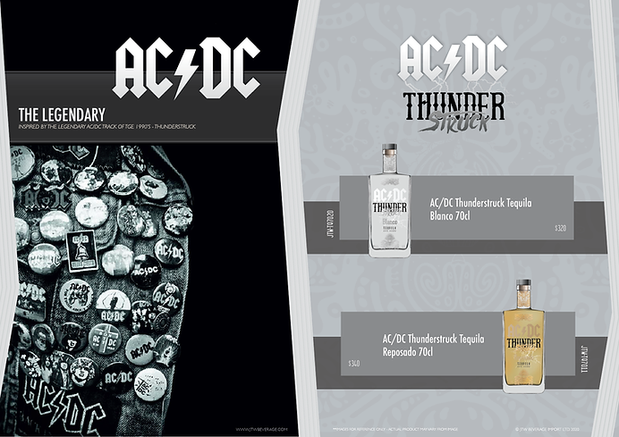 JTW BRANDS ACDC TEQUILA HONG KONG
