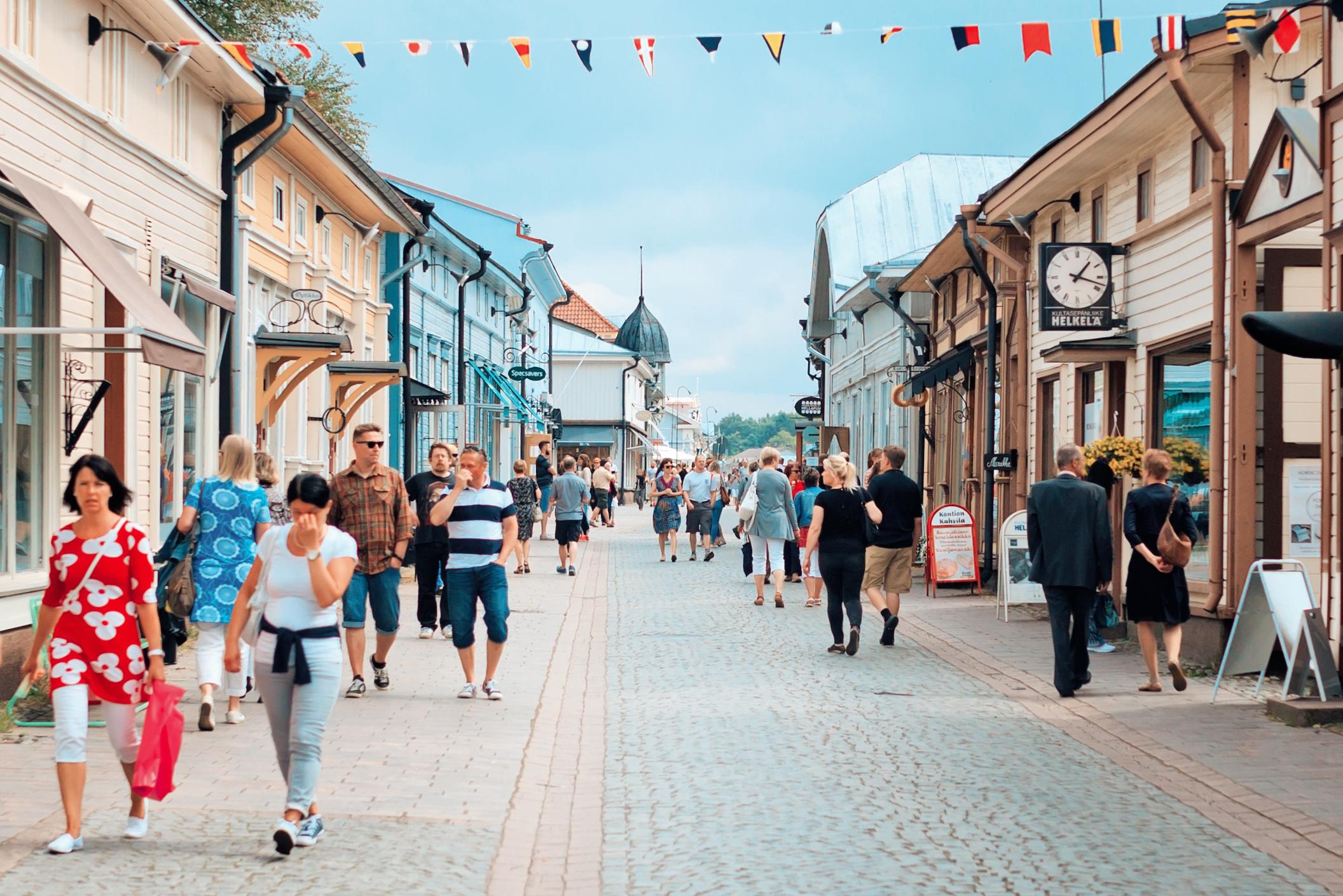Old Rauma_kuninkaankatu_city of Rauma - Finland