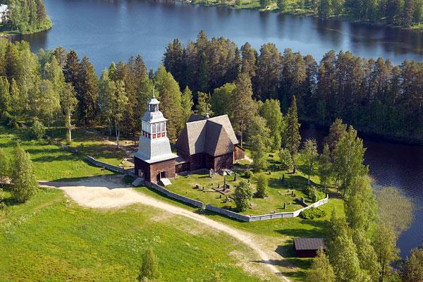 Petäjävesi_old_church_foundation_of_Petäjävesi_old_church - Finland