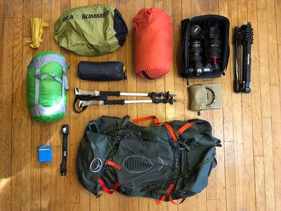 How to pack for a backpacking trip as a photographer