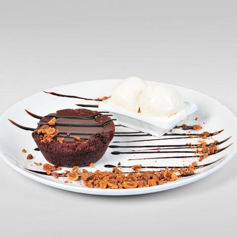 Brownie et crème glacée 2