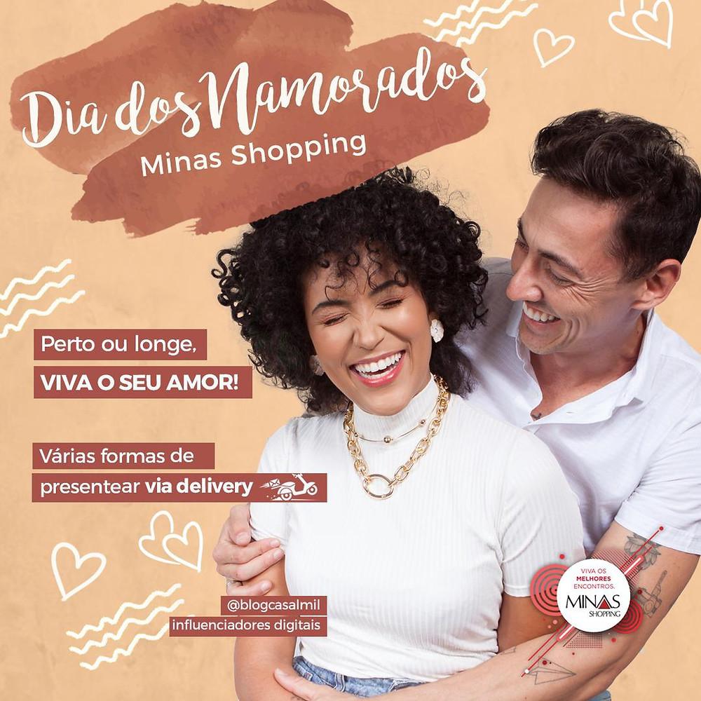 """Minas Shopping criou a campanha """"Perto ou longe, viva o seu amor"""" para incrementar as vendas no Dia dos Namorados."""