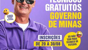 Governo do Estado cria cursos técnicos gratuitos