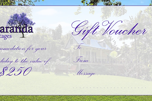 $250 Voucher - Jacaranda Cottages