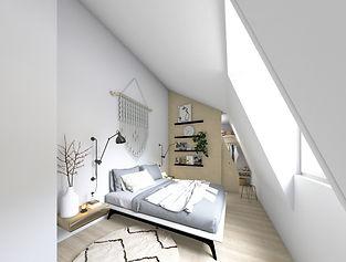 architecture intérieure, chambre avec dressing