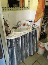 Plan vasqu des toilettes avant rénovation