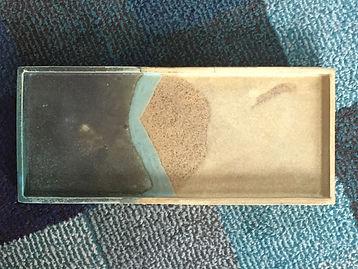 plat rectangulaire en céramique émaillée