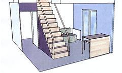projet escalier et bureau