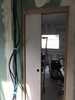 rénovatio - cloison et porte coulissante