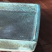 détail plat céramique
