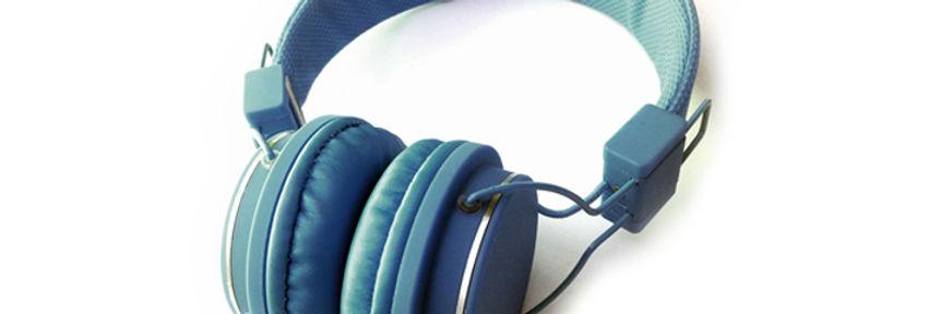 blau Kopfhörer