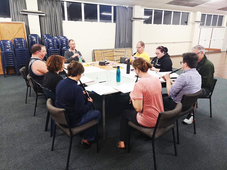 NorthCal Wed night band practise at our Hall