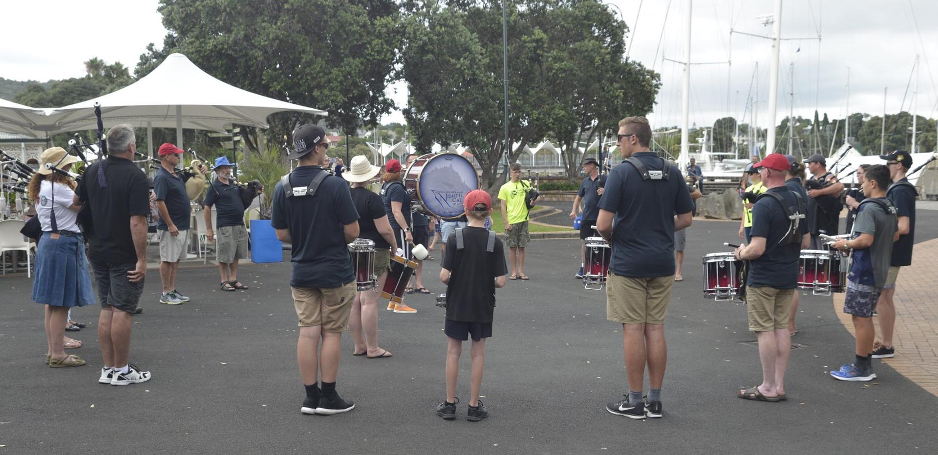 Casual Band Practise at Whangarei Town Basin