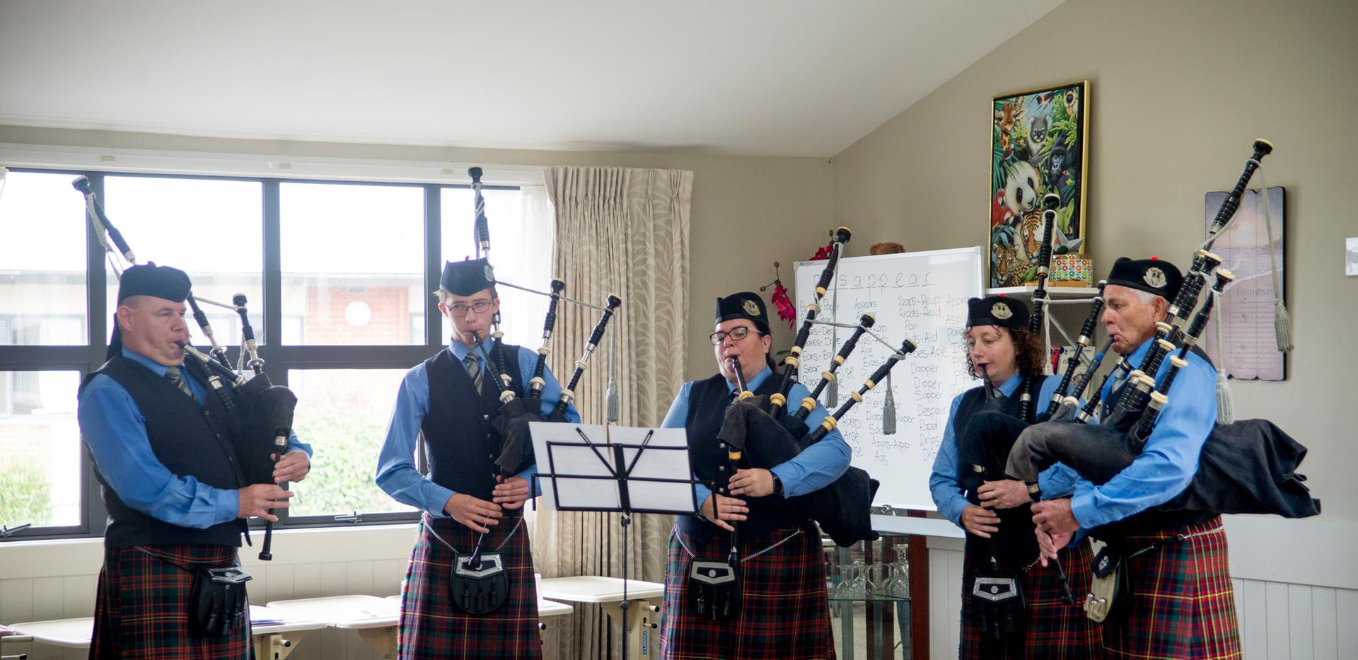 Development Members entertain at a local rest home