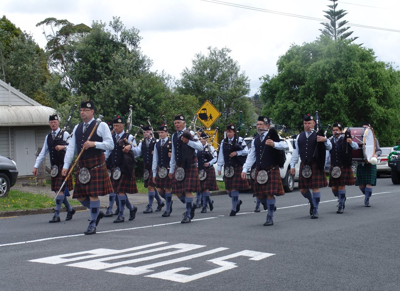 NorthCal Pipe Band marching