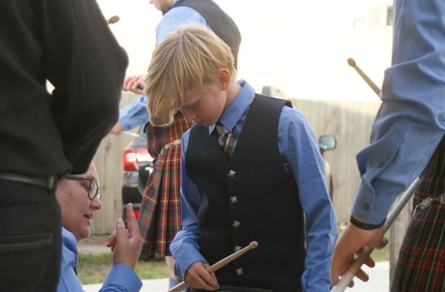Young learner drummer Nico