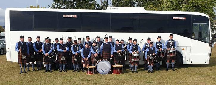 NorthCal Pipe Band at the Paeroa Highland Games