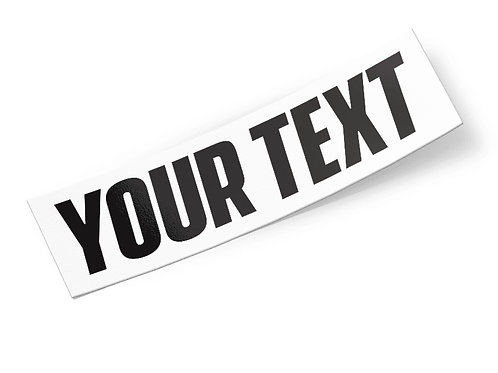 Custom Text Decals