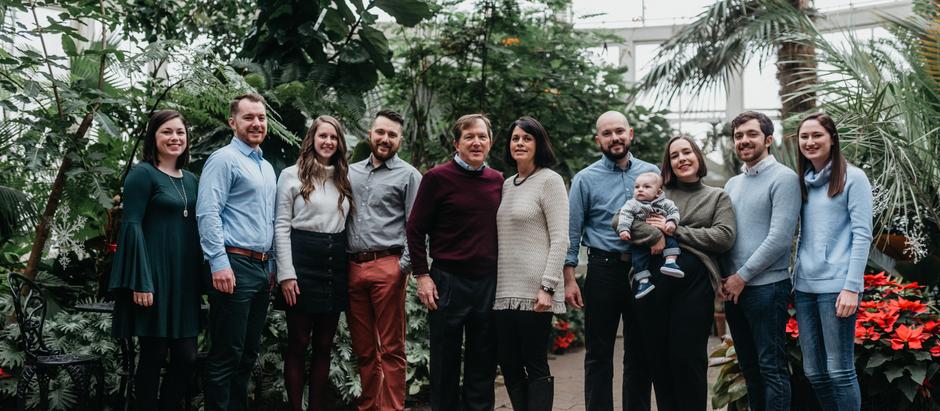 The Hoover Family - 12.23.2018 Family Portrait Session, Buffalo, NY Botanical Gardens