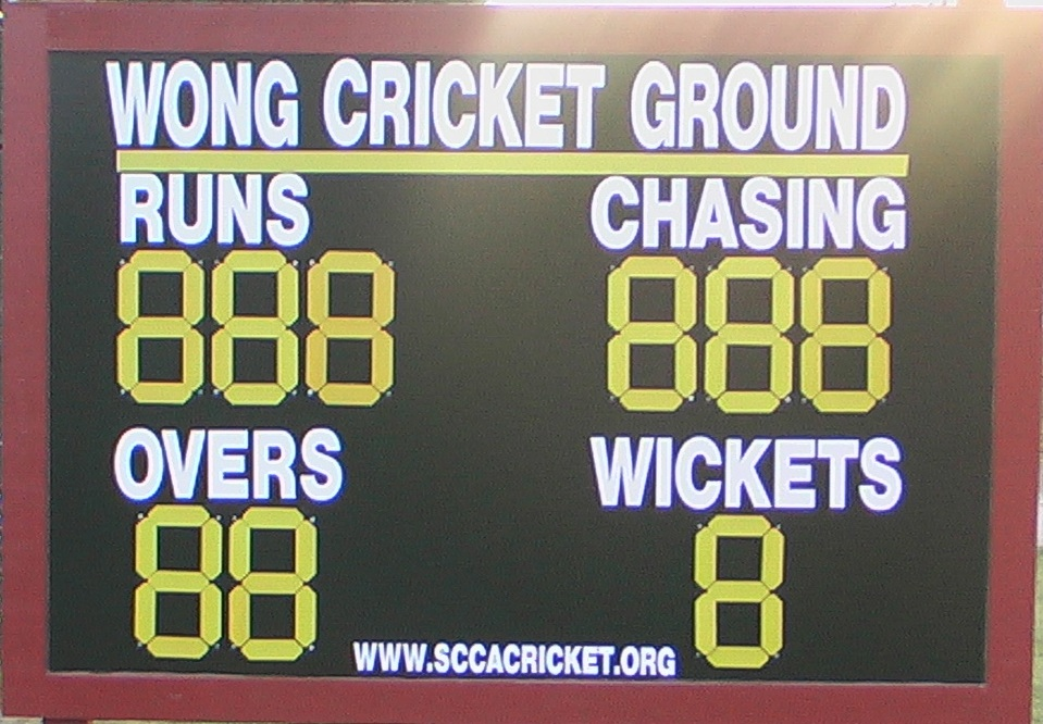 customised cricket scoreboard