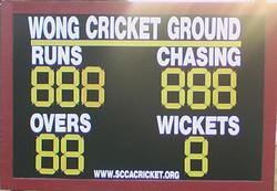 customised cricket scoreboard