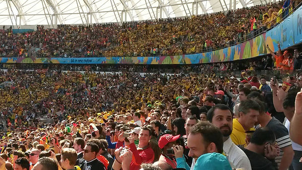 CleverScore Socceroos Brazil World Cup crowd