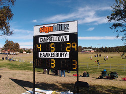 customised AFL scoreboard