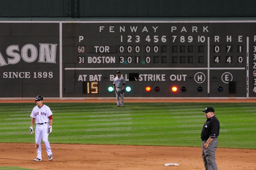 baseball fenway scoreboard