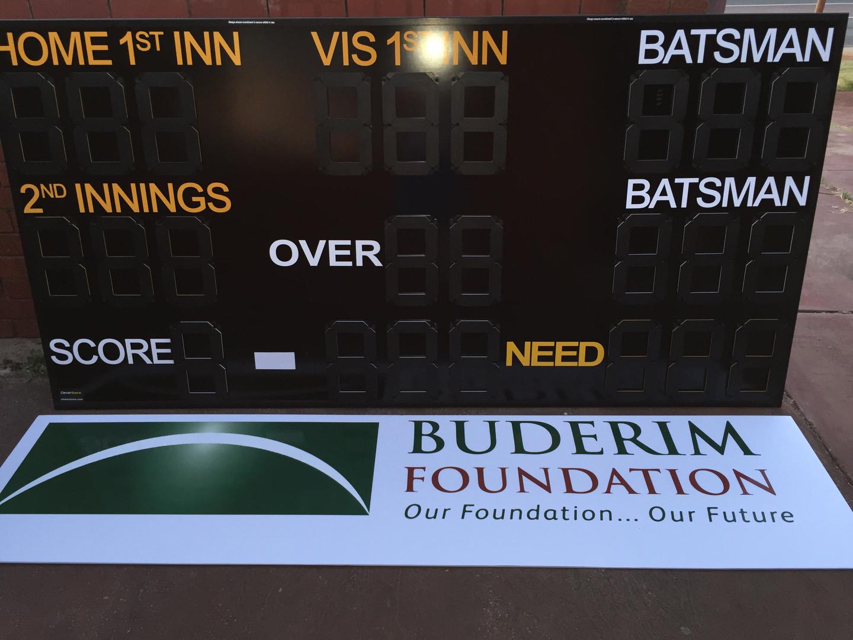 Layout Shield Cricket Scoreboard by CleverScore