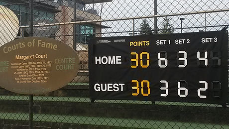 Tennis Scoreboard by CleverScore