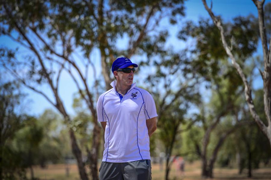 Damien Fleming in the field