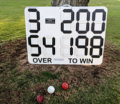 CyBoard Indestructible Cricket Scoreboard by CleverScore.com