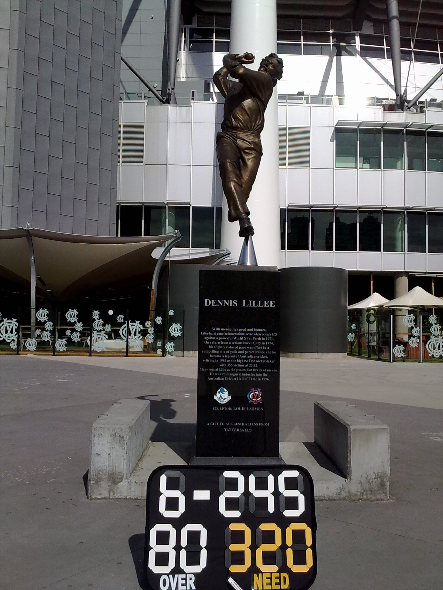 Dennis Lillee Cricket Scoreboard